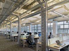Industrial look, open work area