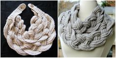 Double Layered Braided Cowl -Free Crochet Pattern with Video Tutorial Crochet Braid Pattern, Braid Patterns, Crochet Braids, Crochet Scarves, Crochet Patterns, Crocheted Scarf, Free Crochet, Knit Crochet, Crochet Hats