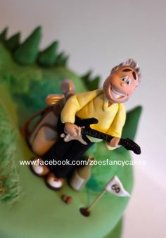 Guitar playing golfer - Cake by Zoe's Fancy Cakes