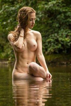 Beautiful naked women outdoors