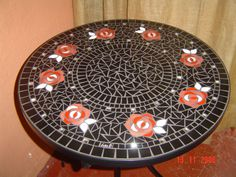 Mosaic table by Lisa B's Art Studio
