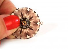 Polymer clay earring tutorial using millefiori cane slices