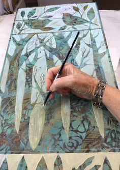 Painting in progress  Sue Davis