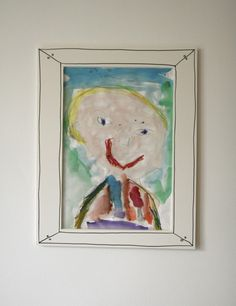 a very clever way by the clever Jennifer Cooper of Classic Play to frame your child's artwork