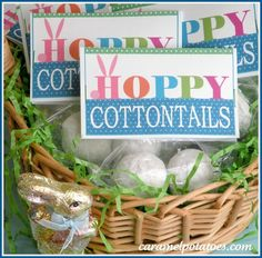 HoPpY Cottontails!  Printable Tag for donut holes and other fun Easter Treats!