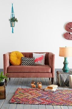 Plum & Bow Tufted Settee from Urban Outfitters. #urbanoutfitters