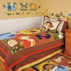"Kids Line Twin Quilt And 1 Sham - Jungle 123 by Kids Line. $118.66. Kidsline TWIN QUILT AND 1 SHAM - Jungle 123The Dena Snowflower Twin Quilt and Sham includes twin quilt, which measures 68"" x 86"", and 1 pillow sham measuring 26"" x 20"". The quilt front sateen is made of 100% cotton, satin is made of 100% polyester and suede is made of 100% cotton. The back is made of 100% cotton.Care instructions: machine wash cold, gentle cylcle with like colors, do NOT bleach, tumble..."
