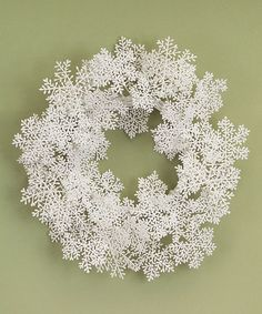 Take a look at this Glitter Snowflake Wreath by Melrose on #zulily today!