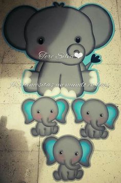 Baby Shower Appetizers, Baby Shower Cakes, Baby Shower Themes, Baby Shower Decorations, Felt Animals, Cute Animals, Party Frame, Childhood Characters, Elephant Theme