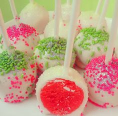 Cocktail Cake Pops Enjoy this recipe for the Make-at-Home version of Amanda Cupcake's Strawberry Margarita Cake Pops  #AmandaCupcake #CupcakeQueen