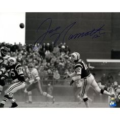 Joe Namath Signed B&W Dust vs KC 16x20 Photo (in blue) (Namath Holo Only)