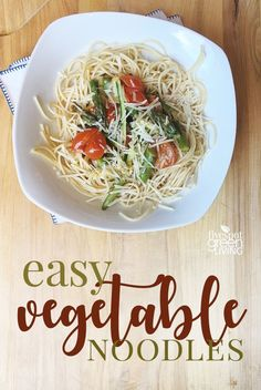 Sick of rushing to get dinner on the table? Try this Easy Vegetable Pasta Recipe that is not only quick but it's absolutely delicious too.