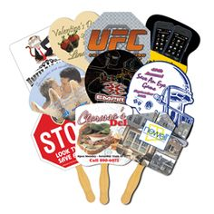 Promotional Products - Promotional Items - Promotional Stock Shaped Paper Glued Hand Fans