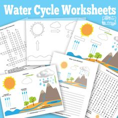 Water Cycle Worksheets and Diagrams