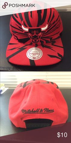 f88e4c487ce6f Chicago Bulls special edition hat Basically brand new! Mitchell   ness  Accessories Hats Chicago Bulls