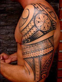 Arm Tattoo Of Maori Polynesian Style http://tattoodesignsdo.com/maori-tattoos/