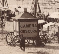 View of New Brighton Beach, Liverpool, England, shows a camera obscura on wheels Late 19th century