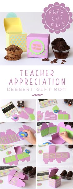 Love this Adorable Teacher Appreciation Dessert Gift Box + FREE Silhouette Cut File from Marvelous Mommy! Perfect idea for settling back into the fall routine at school.
