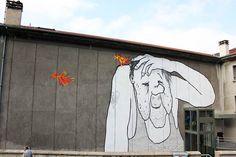Ella & Pitr, SAINT ETIENNE 09.2014 - Par Terre Graffiti Tagging, Graffiti Art, Saint Etienne, Street Artists, Pop Art, Tags, Wall, Paintings, Art Pop