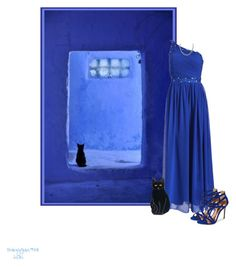 """""""Colours Series #5 BLUE Doorway"""" by babygurl7191 ❤ liked on Polyvore"""