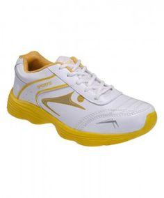 Yepme Paladin Sports Shoes - White & Yellow