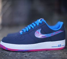 outlet store d4a75 88b08 Nike Air Force 1 LowMidnight Navy-Photo Blue-Vivid Pink