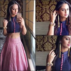 Krystle Dsouza Designer Lehenga Dress !! FOR BUY CLICK HERE http://ift.tt/1PQd0n5 Whats App :- 9953089027