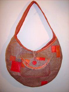 Recycled Fused Plastic Hobo Bag