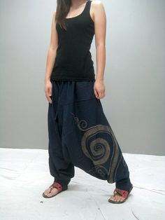 Swirl harem pant (blue) THAITEE - ETSY.COM