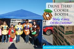 Marathon Girl Scout Cookie Booth Sale - How to run a marathon cookie booth, and have a drive through cookie booth, even threw in a few great marketing ideas for the booth, and themes to use at booth all in one post