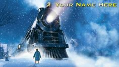 Childrens Kids Personalised a4 Laminated Placemat The Polar Express - Easy Clean