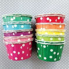 Candy Cups: Rainbow Polka Dots (($))
