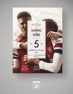 Arsenal F.C | Redesign by Johan Gustafsson Encontrado en http://www.fromupnorth.com/graphic-design-inspiration-968/