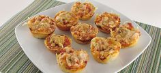 Muffins de pizza | Thermocuina.cat Quiches, Tapas, Pizza Muffins, School Lunch, Scones, Cauliflower, Appetizers, Pasta, Vegetables