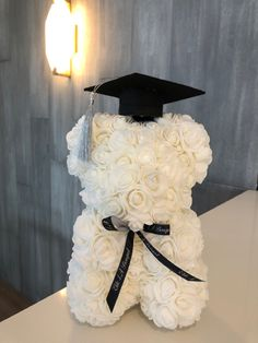 15th Birthday Decorations, Graduation Cap Decoration, Cap Decorations, Graduation Bear, Graduation Flowers, Graduation Gifts, Flower Box Gift, Luxury Flowers, Girly Gifts
