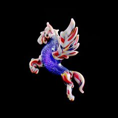 Pegasus Dichroic Pendant by Turtle Glass Pegasus, Dabbing, Brainstorm, Perception, Rigs, Glass Art, Turtle, Pendants, Doors
