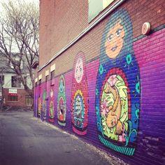épinglé par ❃❀CM❁✿⊱A new (to me) Russian nesting dolls mural in the Glebe Street Art Banksy, Graffiti Murals, Matryoshka Doll, Yarn Bombing, Wooden Dolls, Land Art, Cute Dolls, Urban Art, Artsy Fartsy