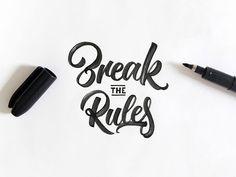 Une sélection de letterings au brush pen