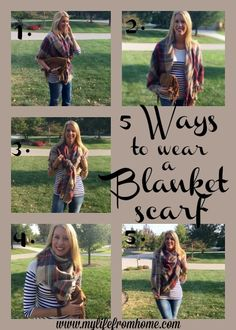 5 Ways to Wear a Blanket Scarf | My Life From Home | www.mylifefromhome.com