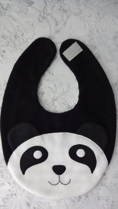 Panda Bib Infant Baby Bib Animal Reversible Fleece Bib