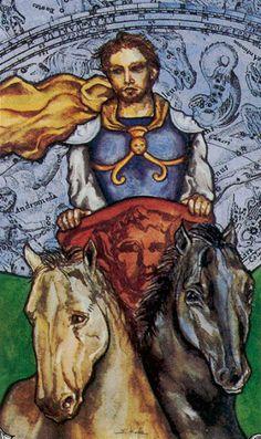 Mundo do Tarô:  O corpo humano é a carruagem.Eu, o homem que a co...