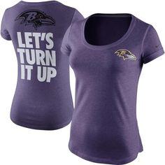b796f3e1d5 Baltimore Ravens Nike Women s Let s Turn It Up Tri-Blend T-Shirt – Purple