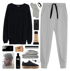 """""""hanna"""" by symone-i ❤ liked on Polyvore featuring T By Alexander Wang, Puma, American Apparel, Judy White Studio, Maison Margiela, John Lewis, NYX, GHD, snowinseptember5years and gottatagrandomn3ss"""
