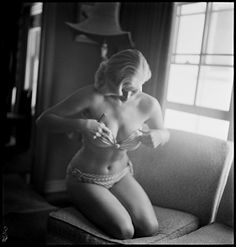 anita ekberg by     phil stern 1953