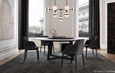 Sedie contemporanee ~ Poliform arredi design contemporaneo tavolo howard sedie ventura