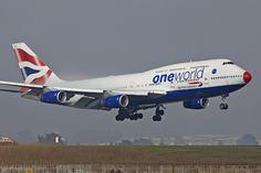 British Airways One World Boeing 747-400 at Oliver Tambo International Airport, Johannesburg - 2009