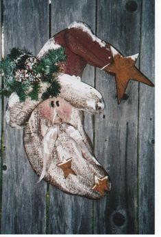primitive wood crafts for christmas | Wood Craft Christmas Santa Pattern Pattern WC308 | eBay