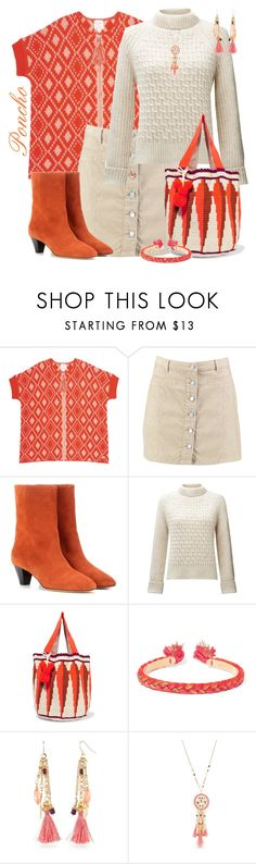 """""""Orange fringe"""" by joyfulmum ❤ liked on Polyvore featuring Boohoo, Isabel Marant, Somerset by Alice Temperley, Sophie Anderson, Aurélie Bidermann and New Directions"""