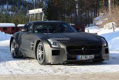 The #Mercedes SLS #BlackSeries During Development http://www.benzinsider.com/2012/03/spyshots-of-the-mercedes-sls-black-series/