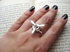 Steampunk Ring  Silver Spinning Propeller by ForevermoreCreations, $12.00